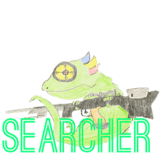 SEARCHERスタンプ(落書きVer.)